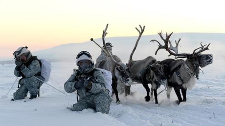 Capture d'écran Twitter d'une photo des soldats russes à l'entraînement en Sibérie