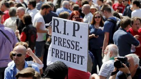 Manifestation allemande pour la libérté de la presse, le 1 août 2015