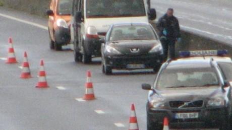 Les forces de police sur la A29