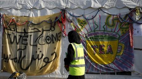 Un camp de réfugiés en Grèce