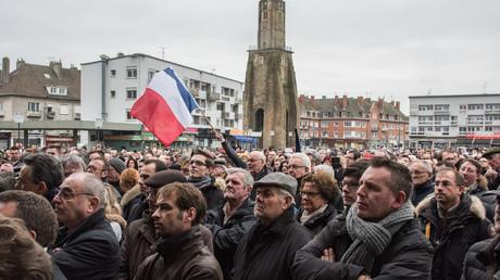 Marche organisée à Calais le 24 janvier 2016 pour soutenir l'emploi à Calais