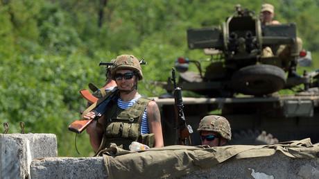 Des soldats de Kiev dans la région de Donetsk