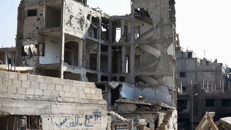 Ruines d'une ville syrienne