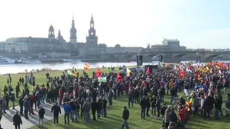Manifestation «La forteresse Europe» de PEGIDA à Dresde