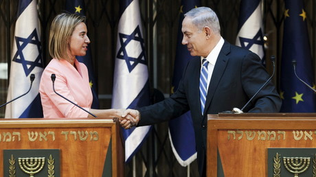 Federica Mogherini et Benjamin Netanyahou