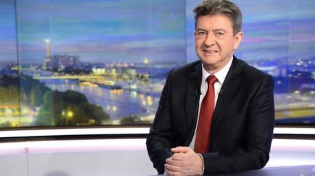 Jean-Luc Mélenchon, sur le plateau de TF1, ce mercredi 10 février