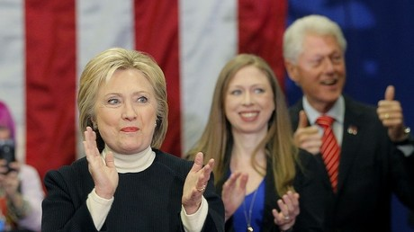 Hillary, Chelsea et Bill Clinton
