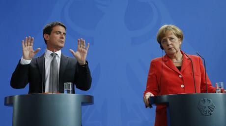 Manuel Valls et Angela Merkel