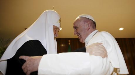 Le patriarche Cyrille et le pape François