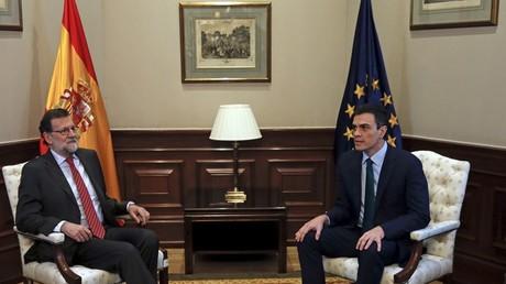 Mariano Rajoy et Pédro Sanchez