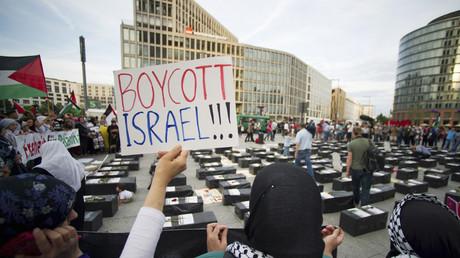 Une manifestation en faveur du boycott en Allemagne