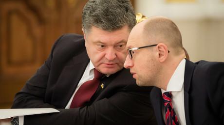 Petro Porochenko et Arséni Iatseniouk