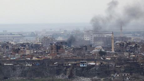 Le bombardement de la ville de Diyarbakir