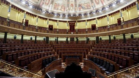 Le parlement espagnol vide