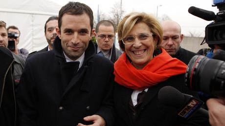 Benoit Hamon et Marie-Noëlle Lienemann