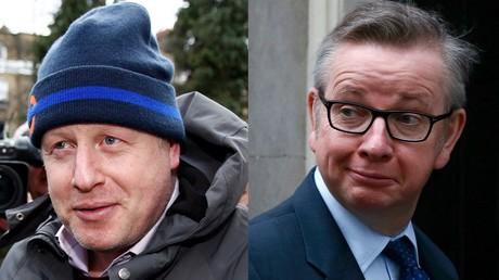 Boris Johnson (à gauche) et Michael Gove (à doite)