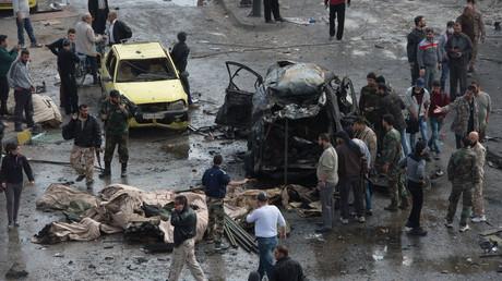 Le lieu du drame à Homs