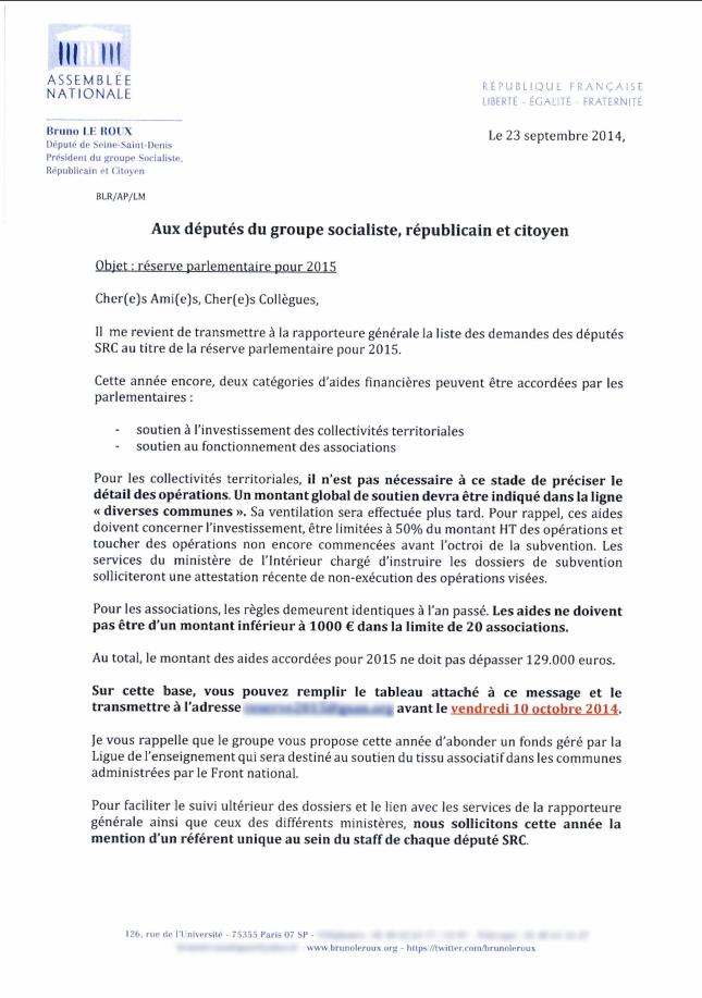 Capture d'écran du document diffusé sur le site francetvinfo.fr