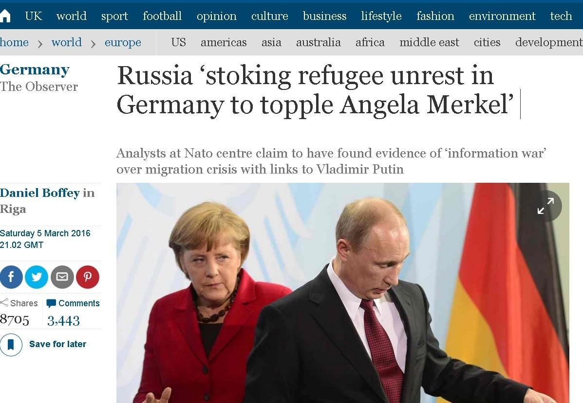 Les conspirations russes visant l'Allemagne ont le vent en poupe outre-Rhin