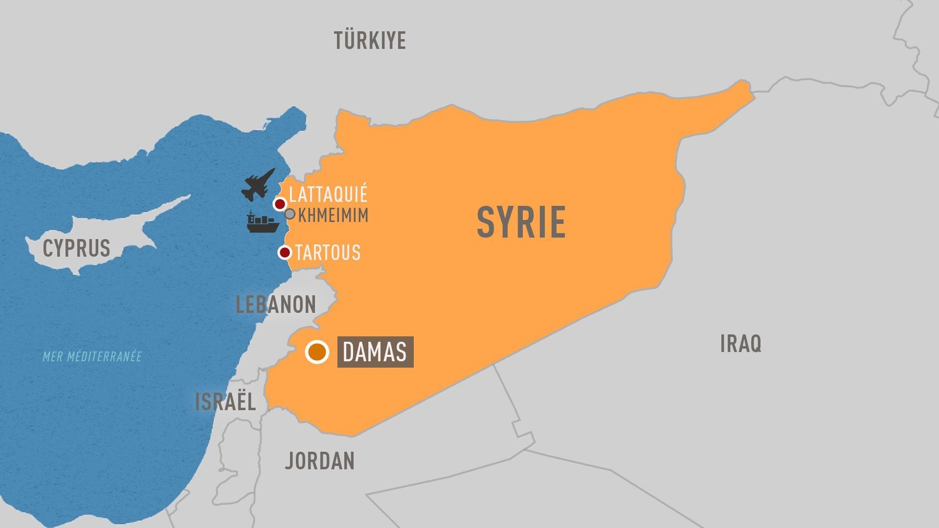Les bases militaires russes en Syrie