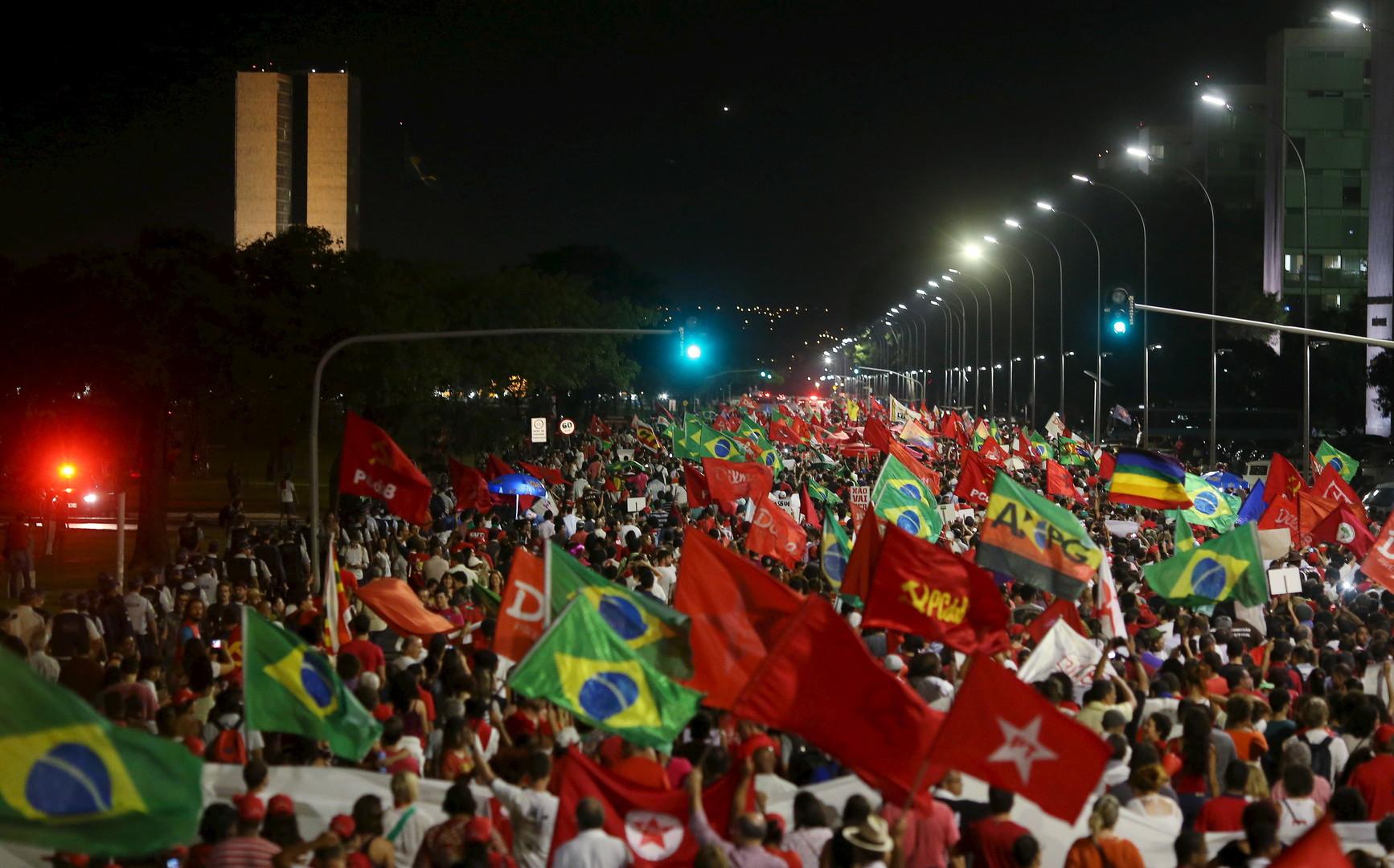 Manifestation de soutien à Dilma Roussef le 19 mars