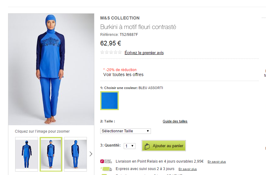La nouvelle collection de «Burkini» de Marks et Spencer fait polémique (PHOTOS)