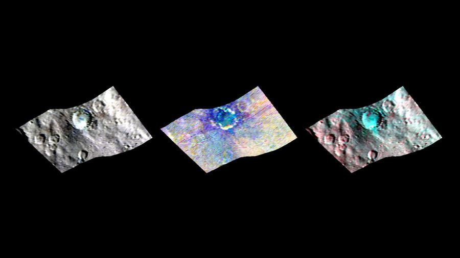 Cartographie infrarouge de la surface de Cérès