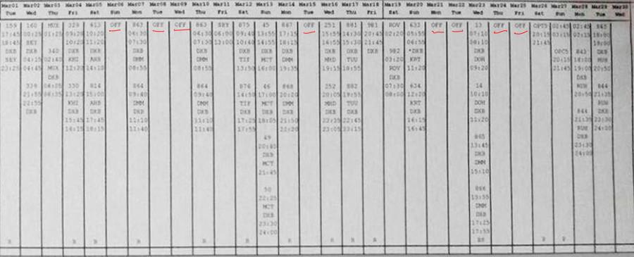 Le carnet du vol du copilote du vol FZ981, Alejandro Cruz Alava