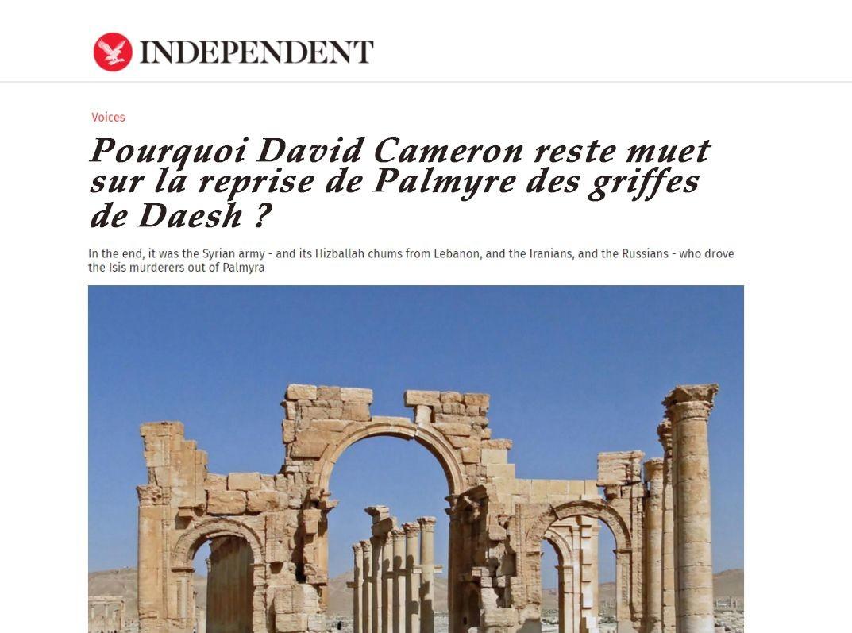 Le titre de The Independent