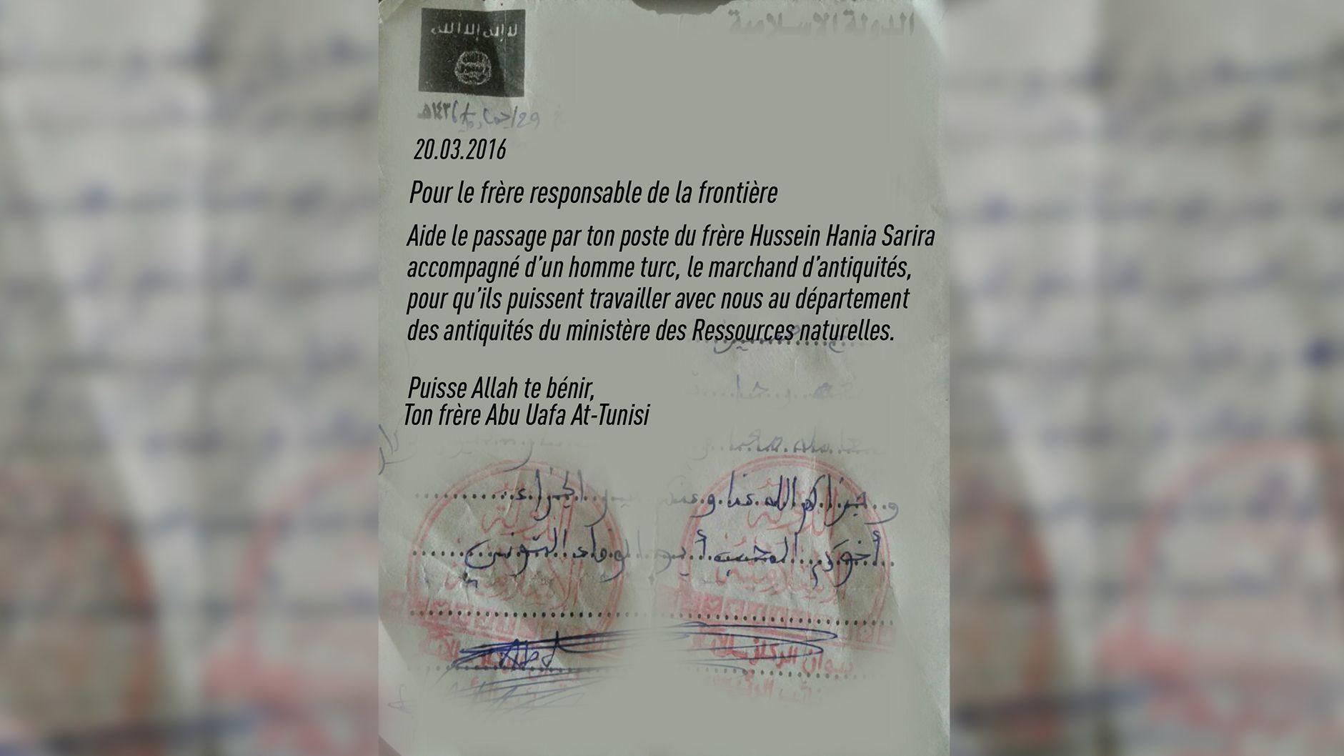 RT révèle des documents qui prouvent le trafic d'antiquités entre Daesh et la Turquie