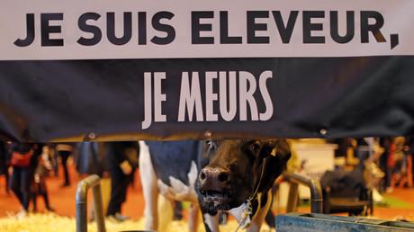 Une pancarte au salon de l'agriculture