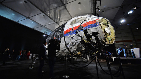 Partie du fuselage de l'avion MH17
