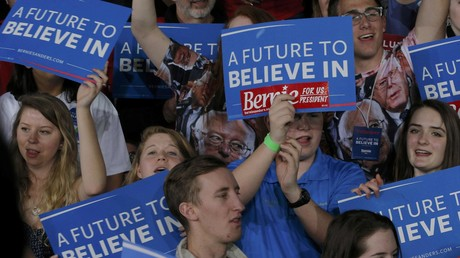 Des supporteurs de Bernie Sanders à Burlington lors de Super Mardi