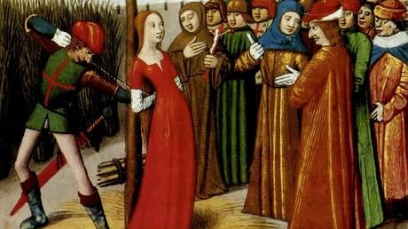 «La Pucelle d'Orléans» sur le bûcher le 30 mai 1431 à Rouen