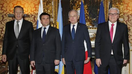 Jean-Marc Ayrault s'exprime suite aux pourparlers au format Normandie sur la crise ukrainienne