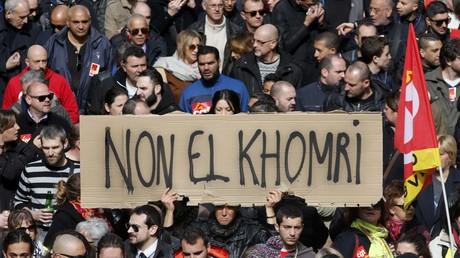 Manifestation de la CGT contre la proposition de la loi «Travail» à Marseille, le 9 mars 2016.