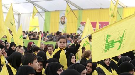 Des supporters du Hezbollah rassemblés au sud Liban