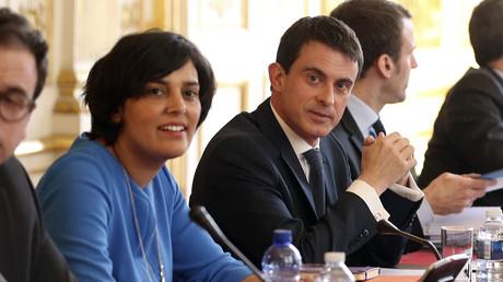 La ministre du Travail, Myriam El Khomri, et le Premier ministre Manuel Valls
