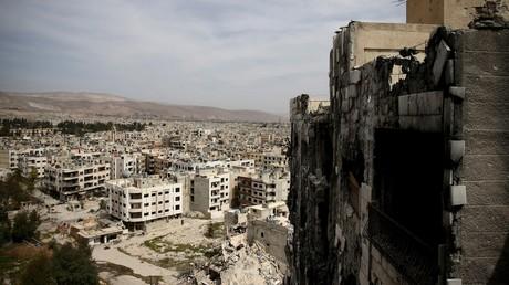 Les ruines de Damas