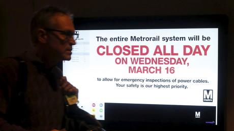 Le métro de Washington entièrement fermé face aux risques d'incendies liés à son réseau électrique