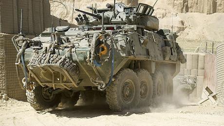 Véhicule blindé léger de conception canadienne en Afghanistan, le 17 août 2011