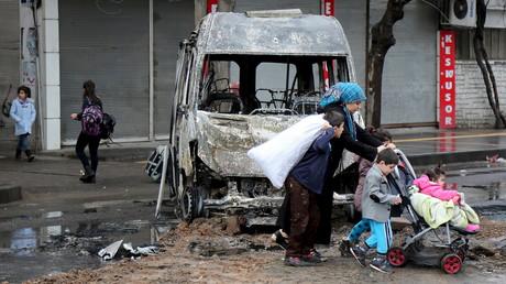 La ville de Diyarbakir après des affrontements