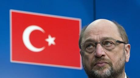 Le président du Parlement européen Martin Schulz a la Turquie en tête