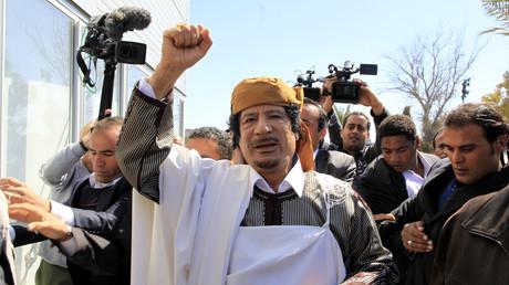 Mouammar Kadhafi à Tripoli le 2 mars 2011