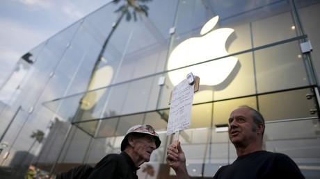 Une manifestation en soutien d'Apple à San Bernardino