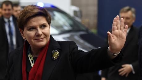 Le Premier ministre de la Pologne Beata Szydlo