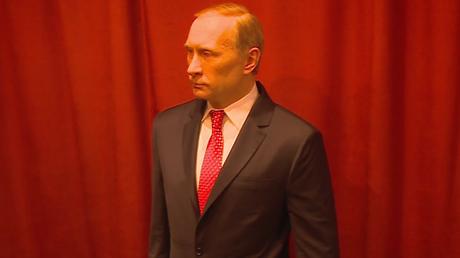 Statue de cire de Vladimir Poutine dans le musée de Jagodina en Serbie