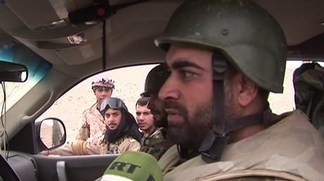 Une équipe de RT à Palmyre