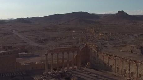 Palmyre depuis l'œil d'un drone