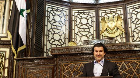 Nicolas Dhuicq lors d'un premier voyage en Syrie